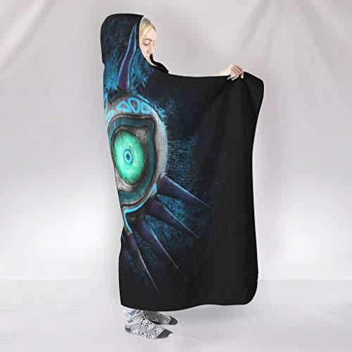NiTIAN Zelda Majora Masker Home Tapijt, hooded blanket warme knuffeldeken TV computer microvezeldeken voor volwassenen