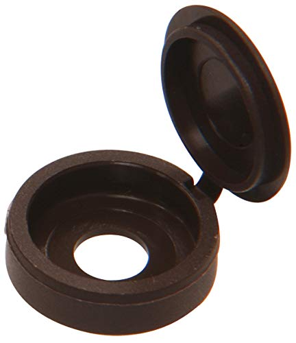 The Hillman Group 59048 Hinge Screw Cover Number 8/Number 10, Brown , 15-Pack