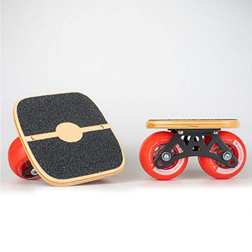 KHUY Pro Skate para Principiantes Adultos y Niños, Mini Cruiser Retro Skateboard, Patinaje Skate Boards Junta Drifting, Freeline Skates, Ruedas de PU DE 73 mm * 43 mm (Color : Red)
