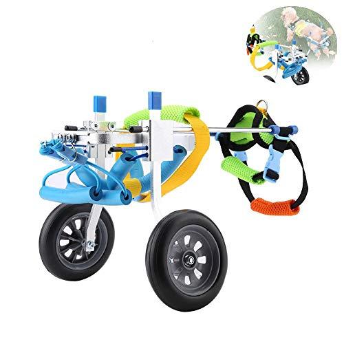 Silla de ruedas para mascotas, silla de ruedas para perros ajustable, ayuda para la rehabilitación de las patas traseras para el envejecimiento, discapacitados, lesionados, artritis, perros / gatos /