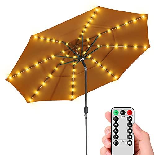 Poocci Patio LED Umbrella String Lights