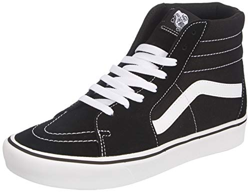 Vans Classic Comfycush Sk8-Hi, Baskets Mixte, Black/True White, 36 EU