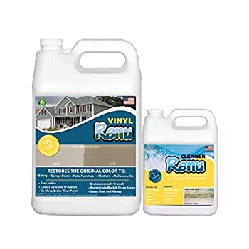 Vinyl Renu® Gallon Siding Restorer-Restores The Original Color And Beauty To All Siding Types As Well As Faded Plastic Metal & Painted Surfaces Penetrates Conditions & Protects Easy To Apply