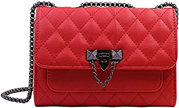 Intrbleu Faux Leather Small Quilted Shoulder Bags