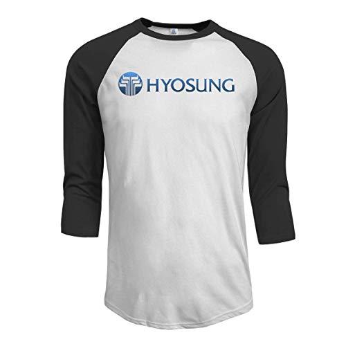 Camisetas para Hombres Hy-OSU-ng Lo-go 1 Estilo Tops Humor Popular Hip Hop Mangas gráficas Camisetas de béisbol Negro M