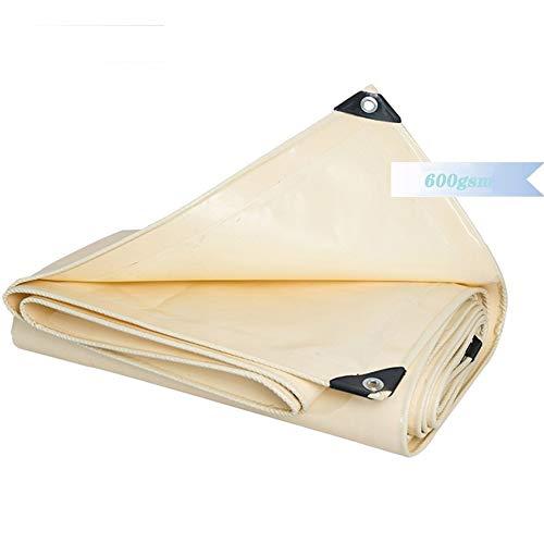 GDMING Lonas Impermeables Exterior Lona De Protección Tarea Pesada Lona De Pintura De PVC con Ojales Proteccion Solar Poncho Tienda Coche Cubrir Fácil De Instalar, 8 Tamaños