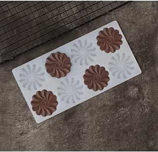 S.Han Silicone Ruffle Flower Garnishing Mould Chocolate Sheet Cake Decorating Tool Baking bakeware