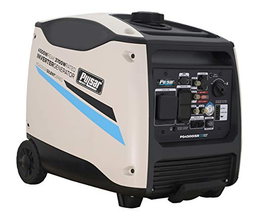 Pulsar Products PG4500iSR, 4500W Portable Quiet Remote Start & Parallel Capability, CARB Compliant Inverter Generator, 4500-Watt White