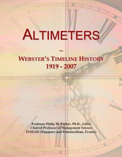 Altimeters: Webster's Timeline History, 1919 - 2007
