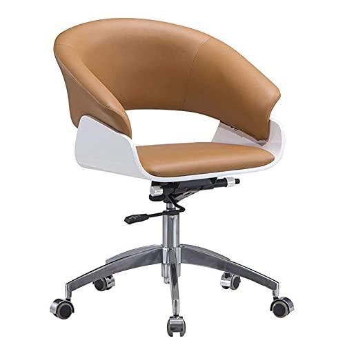 Duriano Silla de oficina ajustable, ergonómica Silla de escritorio de cuero sintético para el hogar Cómoda silla giratoria acolchada para computadora con función reclinable, muebles para el hogar y la