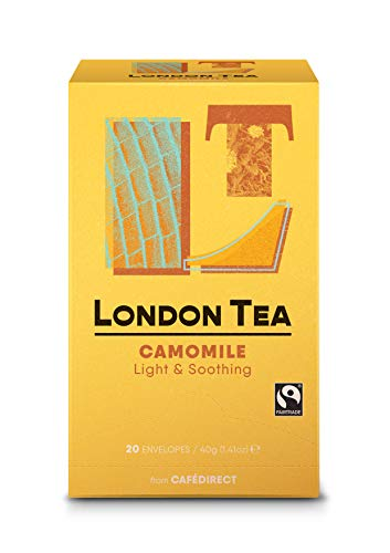 Photo of The London Tea Company 20 Enveloped Pure Chamomile Bags 30 g (Pack of 6)