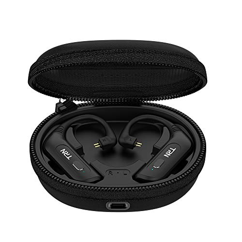 Bluetooth Earphone Adapter OKCSC BT20S PRO 2pin 0.78mm Bluetooth 5.0 Ear Hook with Mic 72H Playtime HiFi Sound Upgrade IEMS Headphone Cable with Changing Case for UM3X W4R UM18 UE11-0.78mm 2pin