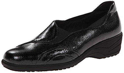 ara Women's Reegan Slip-On Loafer, Black Snake Print Patent, 10.5 M US