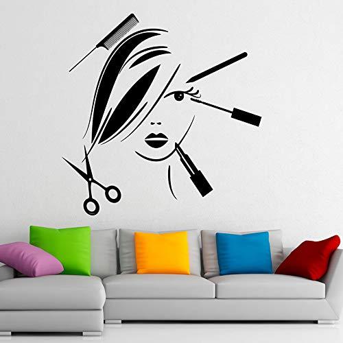 Tianpengyuanshuai Schönheitssalon Vinyl Wandaufkleber abnehmbare Aufkleber Salon Dekoration Wandmalerei 50X50cm