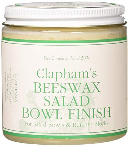 Clapham's Beeswax 870-3008 Salad Bowl Finish, 7-Ounces