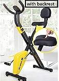 ZJDM Bicicleta estática para Oficina en casa, con Pantalla LCD, Bicicleta estática Inteligente silenciosa para Resistencia a la Velocidad, Equipo de Ejercicios para Perder Peso, con Respaldo