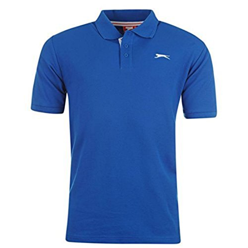 Slazenger Herren-Poloshirt, kurzarm Small blau