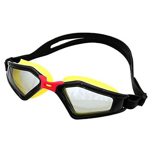 ZYNS Gafas de natación impermeables antivaho y anti-ultravioleta gafas de natación con una bandeja de nariz en una caja de espejo