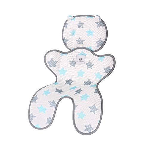 Miracle Baby Copriseduta per Passeggini,Materassino Passeggino Universale Cuscino,Auto Traspirante Anti-Sudore infant cuscino pad(Doppio Strato...