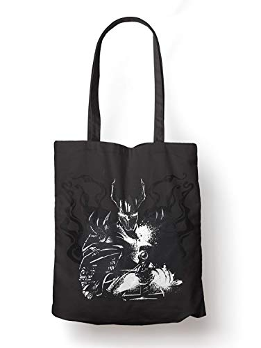 BLAK TEE Dark Monster Knight Organic Cotton Reusable Shopping Bag Black