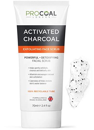 Face Scrub, Premium Exfoliating Charcoal Face Scrub 70ml by PROCOAL -...