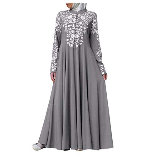 Muslimische Kleider Damen Lang,Frauen Muslimischen Kleid Kaftan Arab Jilbab Abaya Islamischen Spitzennähen Maxikleider Mittelalter Kleid Lose Robe Kleid Muslim Arab Kleid Gebet Kleid