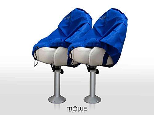 MÖWE MARINE 2-delige set afdekking voor bootstoelen blauw beschermhoes stoelbeschermer stuurstoel artikel 3230