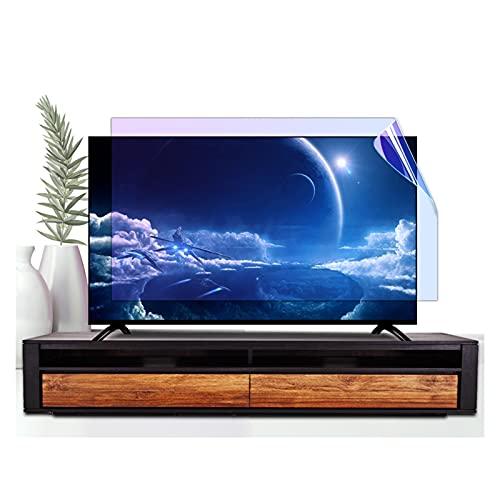 ASPZQ Pellicola Salvaschermo per TV Pellicola Antiriflesso Filtra La Luce Blu AntiGraffio per Monitor TV da Interno/Esterno (Color : Matte Version, Size : 55 inch 1221x703mm)