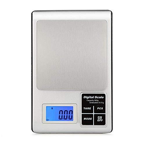 Keuken Thuis Multifunctionele Mini Weegschaal Zakweegschaal LCD Elektronische Keukenweegschaal Evenwicht Koken Meetgereedschap Roestvrij Staal Digitale Weegschaal Voedselweegschaal met Lade-0.01G_X_500G