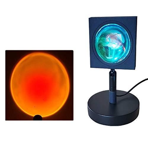 HYDDG Proyector de luz de la lámpara de la puesta del sol, proyector de la puesta del sol, luz de la noche del atardecer para tomar fotos, utilizado para la decoración de la atmósfera
