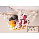 Yuvera Hamaca de frutas vegetales conveniencia debajo del gabinete cesta de almacenamiento colgante cesta de fruta cesta de almacenamiento colgante bolsa de malla para la cocina