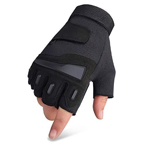 Liaiqing Gymnastik-Handschuhe, Anti-Messer schneiden Männer Sport Anti-Skid Outdoor-Handschuhe, Motorrad-Reithandschuh, halbe Finger-Mountaineering Special Forces Taktische Handschuhe (Size : M)
