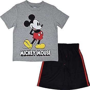 Disney Mickey Mouse Toddler Boys Mesh Shortsets Gray-Black 4