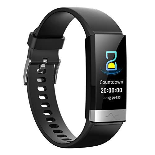 chebao, Reloj inteligente,Reloj contador de pasos de calorías,V19 pulsera inteligente ECG PPG Monitor de frecuencia cardíaca impermeable Fitness Tracker