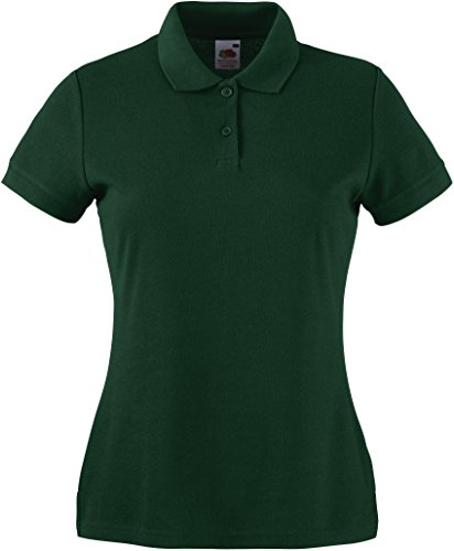 Fruit of the Loom - SS092M - Polo - Femme - Vert - Green (Bottle Green) - 44 (Taille fabricant: L)