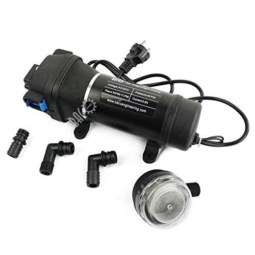 BACOENG AC220V Selbstansaugende Druckwasserpumpe Trinkwasserpumpe 17Ltr./Min 40 PSI