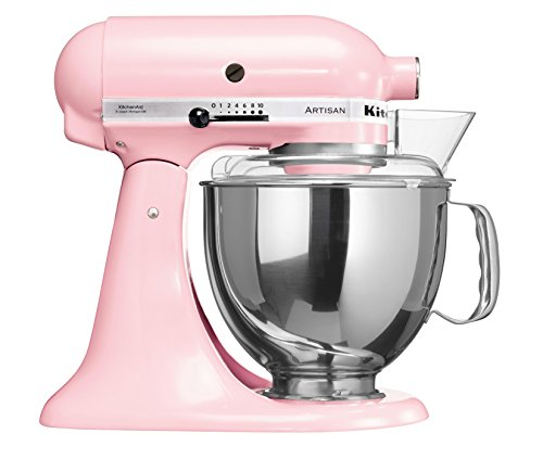 KitchenAid Artisan - Robot de cocina (4,8 L), color rosa