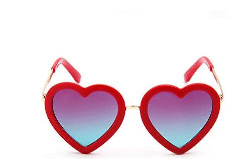 Vi.yo Kinder süße Sonnenbrille Mode Kinder Jungen Mädchen UV400 Spiegel Herz Sonnenbrille Kinder-Brillen Einheitsgröße
