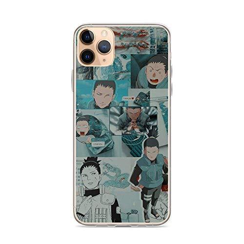 Sexdety Funda Phone Case Compatible con iPhone 12 Mini Case Naruto Shikamaru Nara Fan Art Japanese Ninja Action Anime Pure Clear Phone Cases