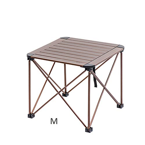 jinrun Sturdy Coffee Table Foldable Aluminum Table Top Bracket Tray Outdoor Garden Camping Picnic Minimalist Side Table (Size : B)