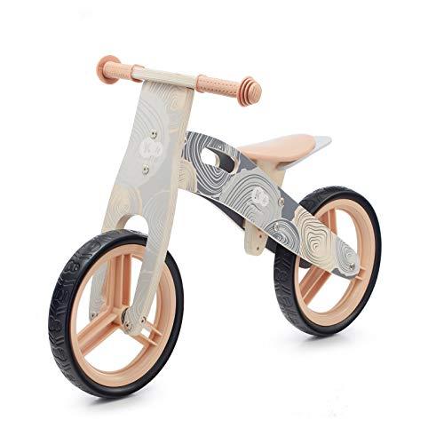 kk Kinderkraft, Kinderkraft Bicicletta in Legno RUNNER, Bici senza Pedali, Sella Regolabile, Blocco dello Sterzo, Fino 35 Kg, Grigio Unisex-Baby, 0