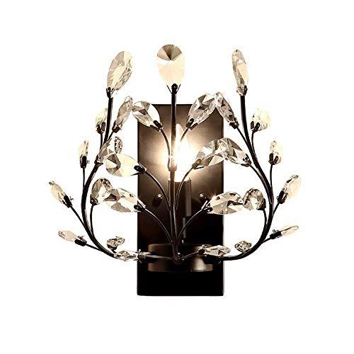 Cristal Lámpara de pared Creativo Vintage Aplique de pared E14 Lámpara de dormitorio Rústico Negro Lámpara de noche Escalera Corredor Lujo Decoración Luce de pasillo por Sala Oficina Comedor