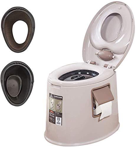 WEHOLY Lavatory Chair – Reise Outdoor Freizeit Camping Toilettenstuhl mobiles Töpfchen für Wohnmobil LKW, braun