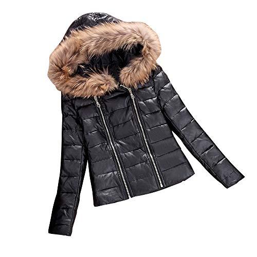 Alikey jack van katoen voor dames winterjas van leer met ritssluiting voor dames, parka outwear overcoat