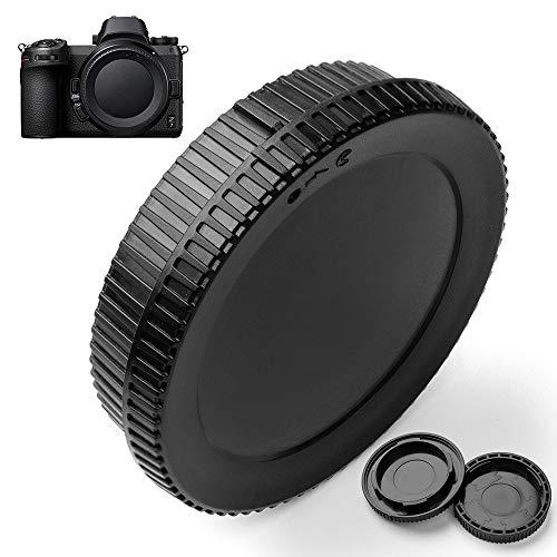 Fotover Juego de tapa de cuerpo y tapa de lente trasera de repuesto para cámara digital Nikon Z Mount y lente de montaje Z