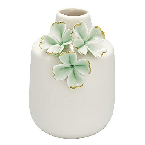 GreenGate CERVASWSFLW3904 Vase Flower Pale Green 11,5 cm (1 Stück)