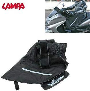 91335 - Cubrepiernas cubrepiernas Compatible con Yamaha T-MAX 500 Black MAX 2006, Impermeable, Cortavientos, Negro, con Interior Acolchado