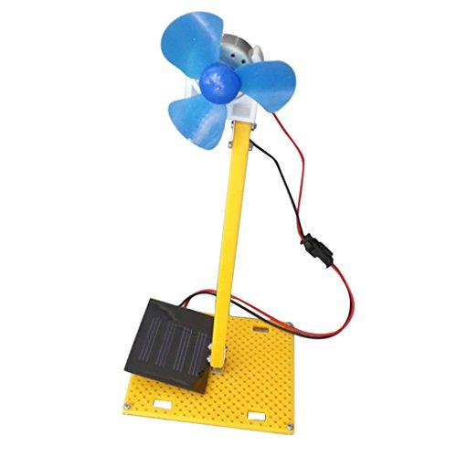 MagiDeal DIY Générateur D'énergie Solaire DC Moteur Ventilateur Solaire Jouet pour Modèle D'éducation Scientifique