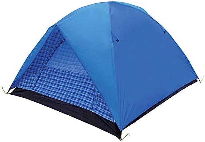 LALAWO Terrain de Camping en Plein air épaississant Pluie Simple et Double 2 Tente de Camping Facile à Installer