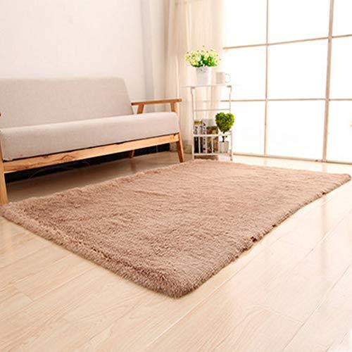 GuoCu Faux Lammfell Schaffell Teppich Flauschiger Long-Hair Kunstfell-Teppich Sofa Matte Nachttisch Teppiche Plüsch-Teppich für Schlafzimmer, Wohnzimmer, Kinderzimmer Dekoration F 120x160CM